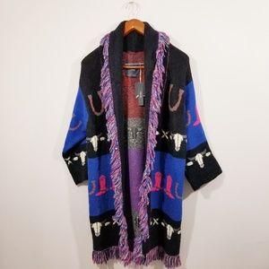 NWT Zara Jacquard Sweater Coat